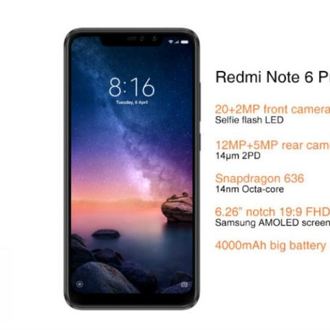 Xiaomi Redmi Note 6 Pro India variants, colours leaked