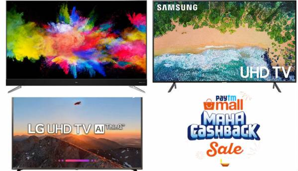 Paytm Maha Cashback Sale: Five 4K TV steal deals from Sony, Samsung, LG and TCL