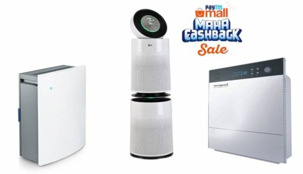 Paytm Mall Maha Cashback Sale: Deals on air purifiers by Sharp, Blueair, LG, Samsung, Philips and others