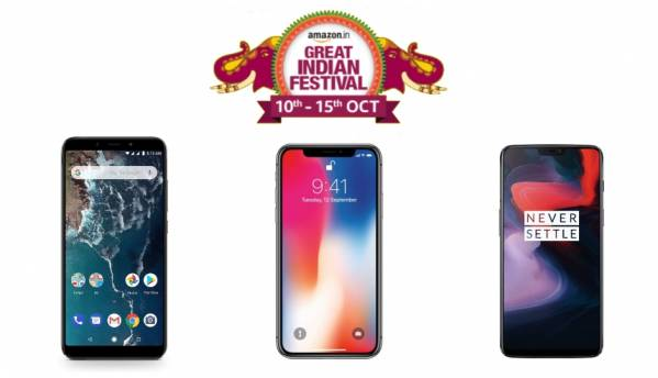 Amazon Great Indian Festival Sale Day 1 Deals: Discounts on Apple iPhone X, OnePlus 6, Xiaomi Redmi Y2, Mi A2 and more
