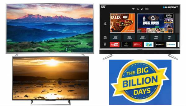 Flipkart Big Billion Days sale: Deals on TVs from Sony, LG, iFFalcon, Thomson, and more
