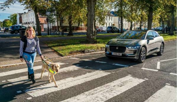Jaguar I-PACE sounds its approach for the blind