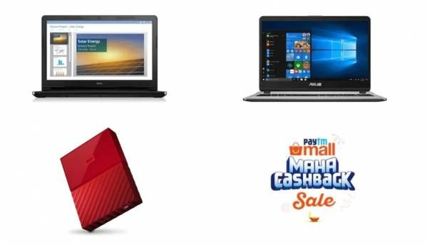 Paytm Mall Maha Cashback Sale: Deals on laptops and storage devices
