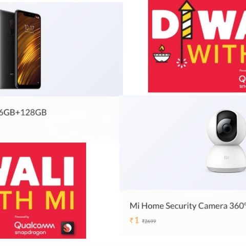 Xiaomi 'Diwali With Mi' Sale Day 1: Grab the Poco F1 and Mi Home Security Camera 360 for Re 1 today