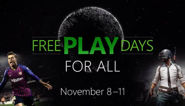 PUBG, PES19 free on Xbox One till November 11