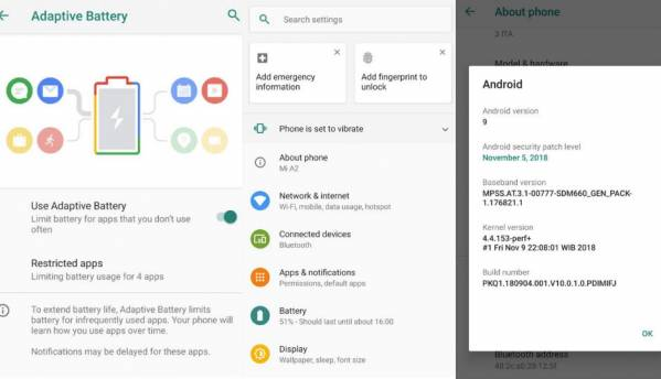 Xiaomi Mi A2 Android Pie beta leaked