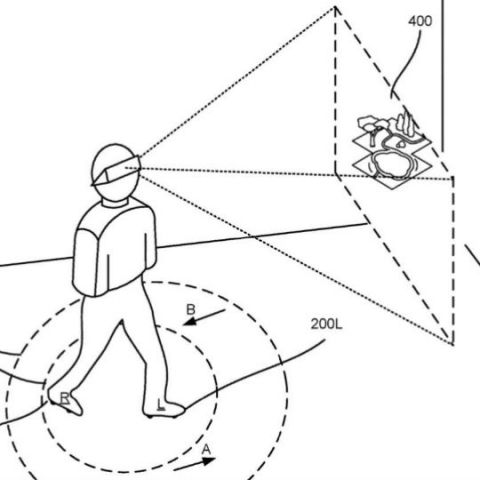 Google's Augmented and/or Virtual Reality footwear patent describes how you could walk infinitely in VR space