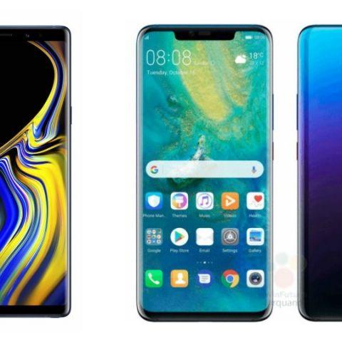 Specs comparison: Huawei Mate 20 Pro vs Samsung Galaxy Note 9