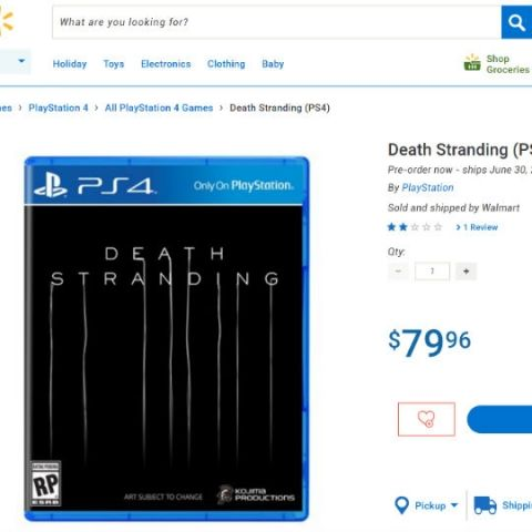 Walmart Canada leaks release date for PS4 Exclusive Death Stranding
