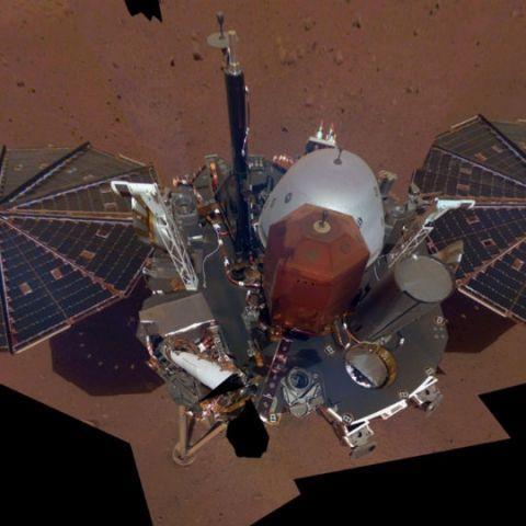 NASA's InSight lander sends back a selfie from Mars