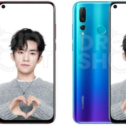 Huawei Nova 4 leaked press renders leaked suggest rear triple-camera setup