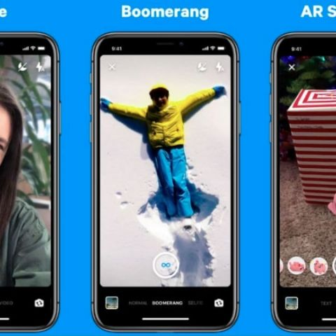 Facebook Messenger camera updated with Boomerang, Selfie mode, AR Stickers and more