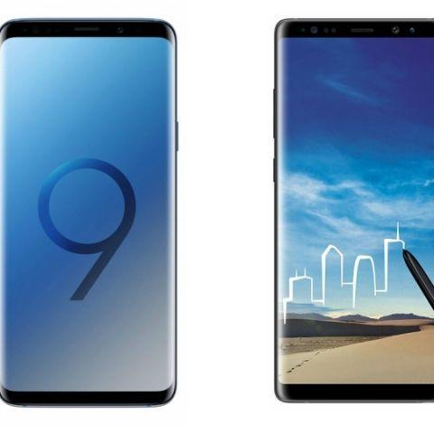 Specs comparison: Samsung Galaxy Note 8 vs Samsung Galaxy S9