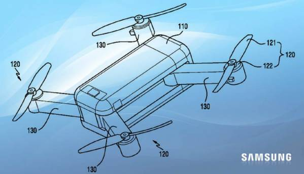 Samsung reportedly granted patent for a transforming drone