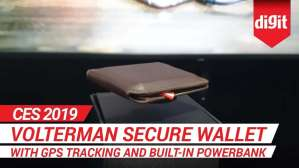 CES 2019: Volterman Secure Wallet with GPS Tracking and buil in Powerbank| Digit.in