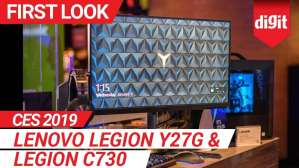 CES 2019: Lenovo Legion Y27G and Legion C730: First Look | Digit.in