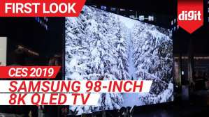 CES 2019: Samsung 98 inch 8K QLED TV First Look | Digit.in