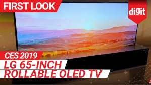CES 2019: LG 65 inch Rollable OLED TV First Look | Digit.in