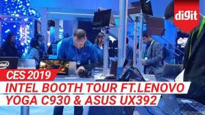 CES 2019: Intel Booth Tour ft.Lenovo Yoga C930 & ASUS UX392  | Digit.in