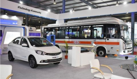 Tata Tigor EV, Tata Starbus Ultra electric showcased