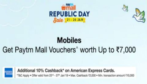 Paytm Mall Republic Day sale: Offers on Samsung Galaxy A9, Galaxy Note 8 and more