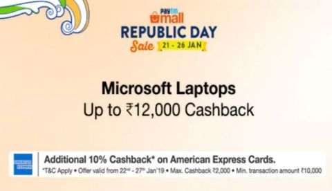Paytm Mall Republic Day sale: Best deals on Microsoft Surface devices