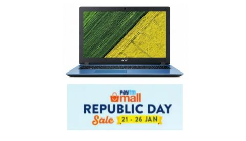 Acer Aspire E15 will be available at an effective price of  Rs 24,990 on January 26 via Paytm Mall