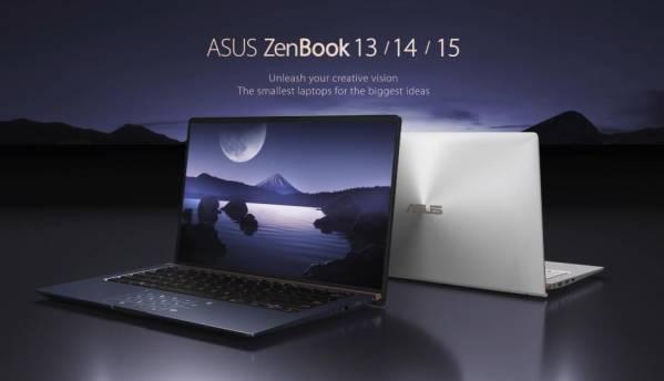 Asus launches ZenBook 13, ZenBook 14 and ZenBook 15 in India