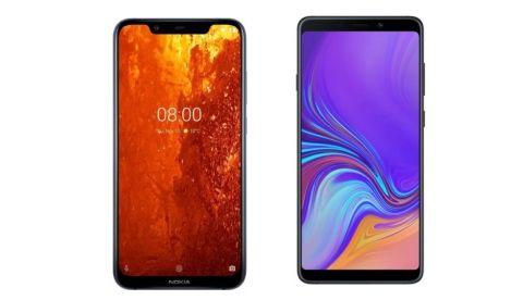 Specs comparison: Nokia 8.1 vs Samsung Galaxy A9