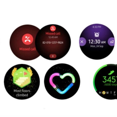 Samsung Galaxy Watch Active images show One UI software redesign, Galaxy buds in black colour