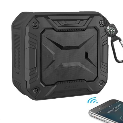 ZAAP Aqua Boom bluetooth speaker with 360-degree surround sound