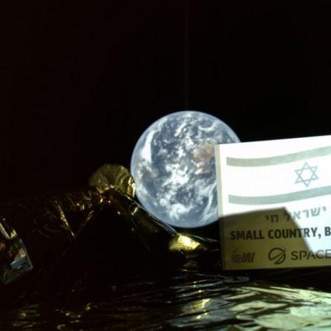 Moon-bound Israeli spacecraft sends back selfie