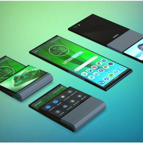 Lenovo patents foldable device that folds vertically