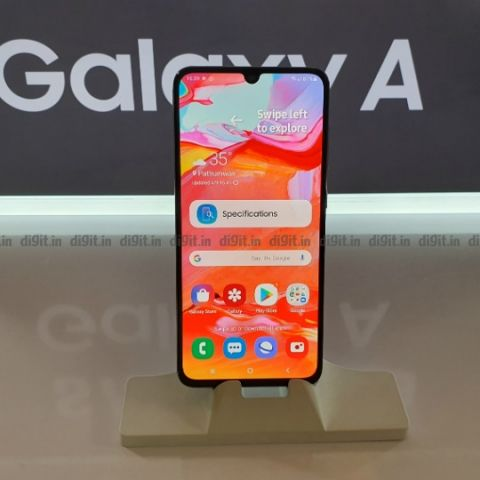 Samsung Galaxy A70 First Impressions: Big on features, modest on design