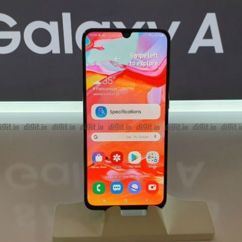 Samsung Galaxy A70 launched in India at Rs 28,990, pre-bookings start on April 20