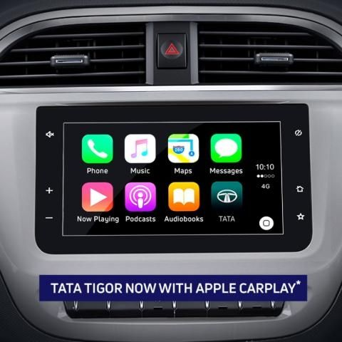 Tata Tigor, Tiago ZX+ updated with support for Apple CarPlay