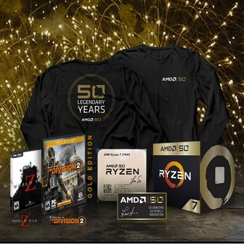 AMD turns 50, launches Ryzen 7 Gold Edition with free games