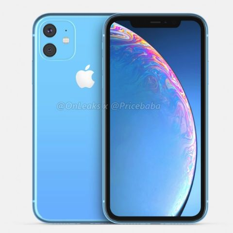 Apple iPhone XR 2019 renders show a dual camera setup with a square bump