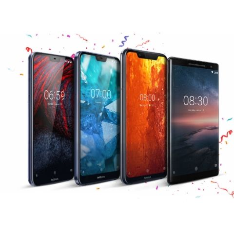 Nokia 8.1, Nokia 7.1, Nokia 6.1 Plus, and Nokia 8 Sirocco receive a limited period discount of up to Rs 6,000