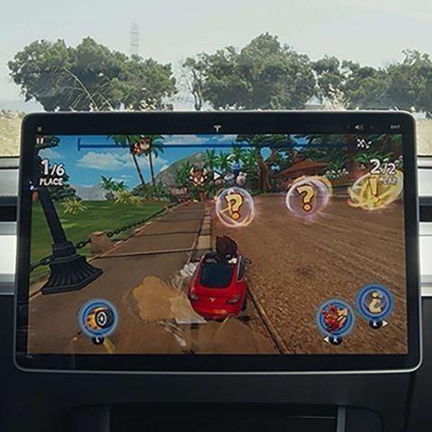 Tesla Arcade entertains users charging their cars with kart racing game