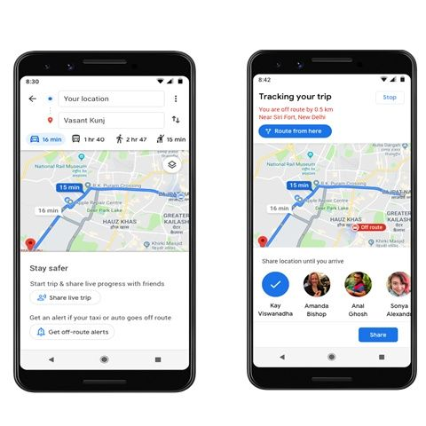 Google Maps gets Stay Safer mode