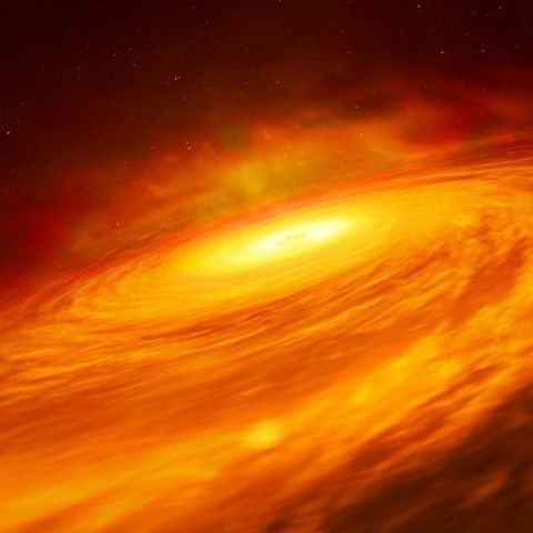 NASA's Hubble Space Telescope discovers a black hole disk that shouldn't exist