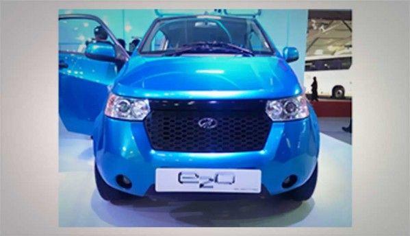 Mahindra E2O at Auto Expo 2014