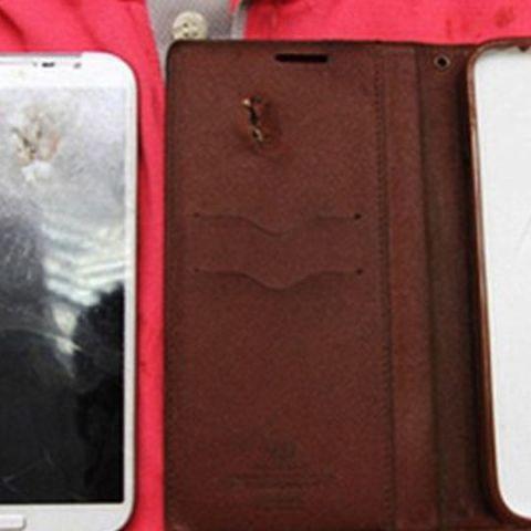 Plastic Samsung Galaxy Mega saves man from bullet