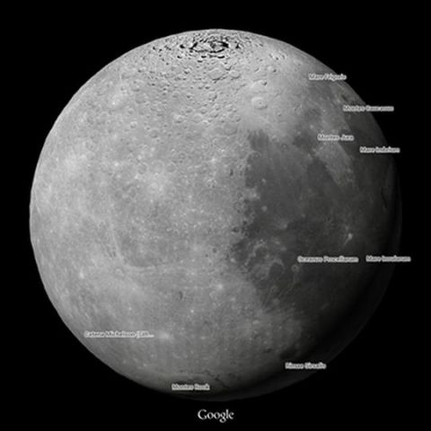 Google Maps now lets you explore Moon and Mars