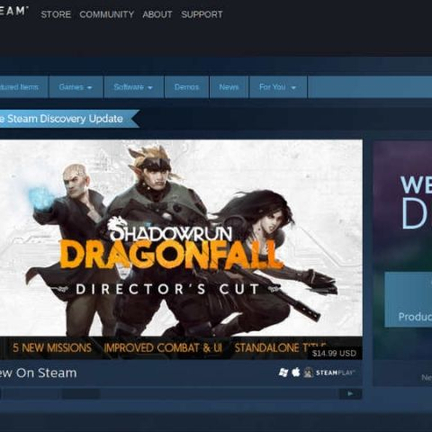 Steam gets major 'Discovery' update, brings recommendations, curation