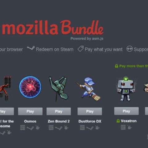 Mozilla Humble Bundle includes games to play in your browser