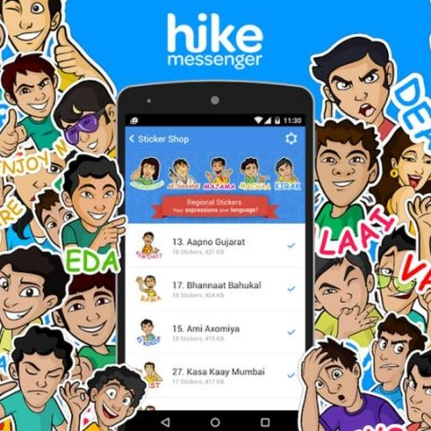 Hike adds free stickers in Indian languages