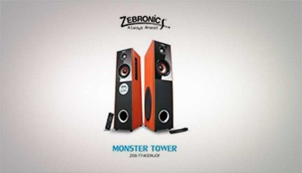 Zebronics Sound Monster ZEB-T7400RUCF Tower speaker system launched for Rs. 6600
