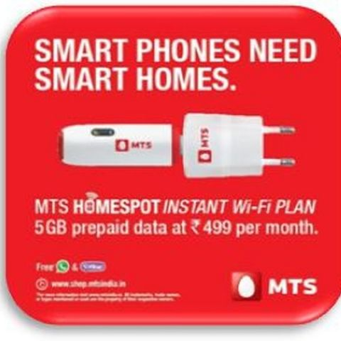 MTS India launches 'Homespot' Instant Wi-Fi Solution